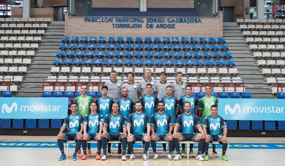 La plantilla de Movistar Inter FS se hace la foto oficial de la temporada 2018-2019